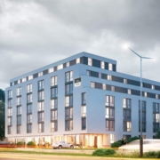 Neubau Hotel Niu Apart mit 279  Zimmern in München Moosacher Straße